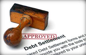 approval stamp on debt settlement document